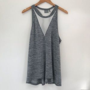 EUC Athleta Mesh Racerback Heathered Gray tank top